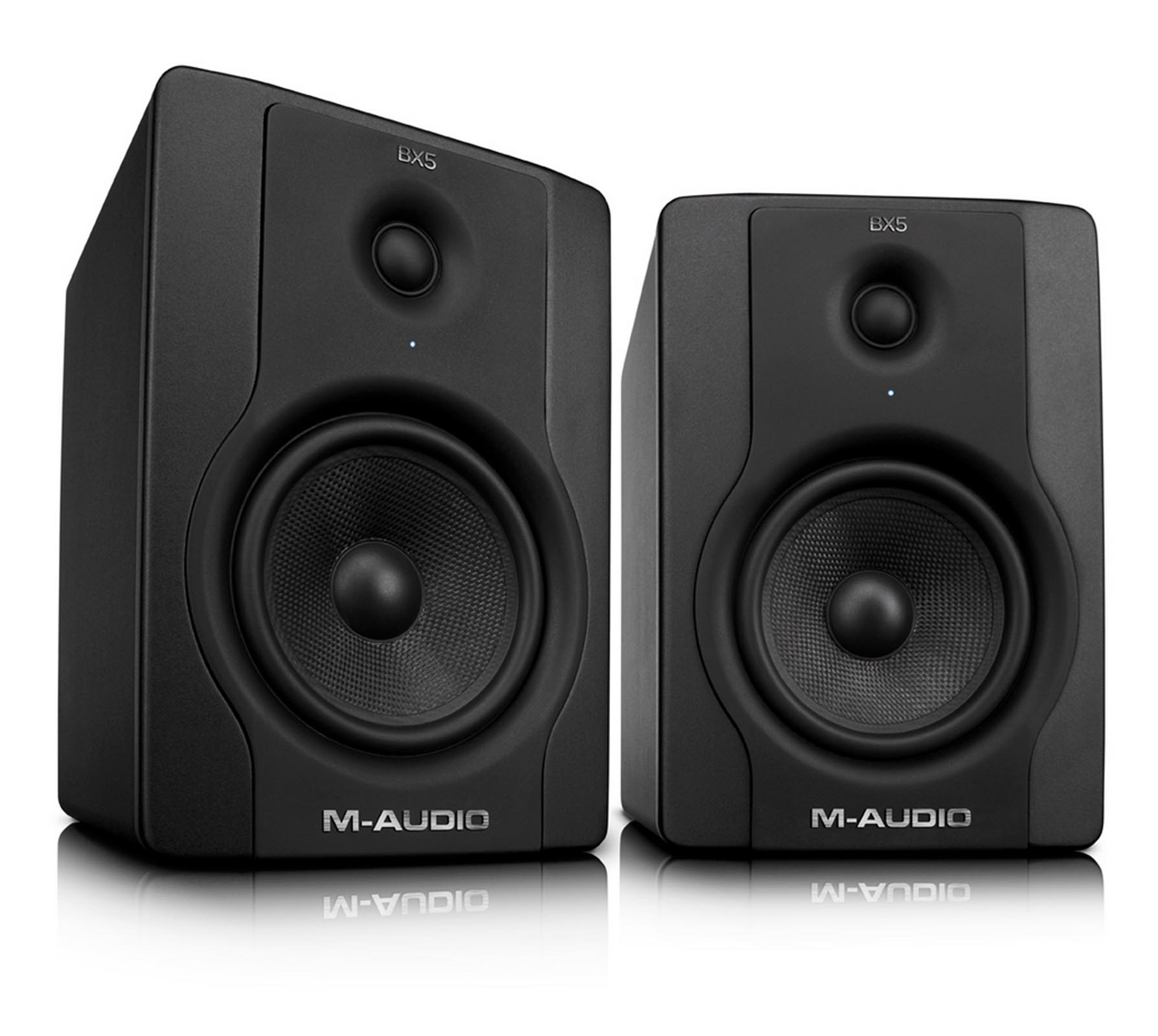 M-Audio BX5 D2 70-Watt Bi-Amplified Studio Monitors | Pair