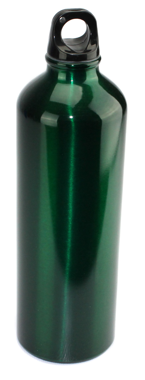 Aluminum A1017 25 Oz (750ml) Water Bottle - Green