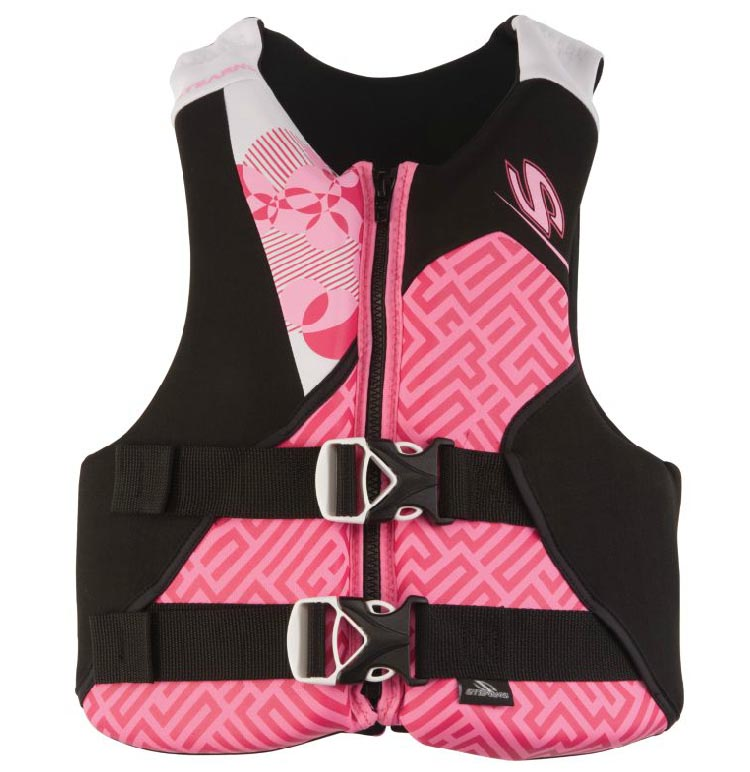 Stearns Youth Girls Pink Hydroprene Life Jacket Vest | 50-90 lbs