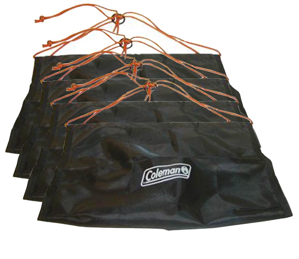 Coleman Camping Fillable Soft/Hard Terrain Tent Anchors | 4 Pack