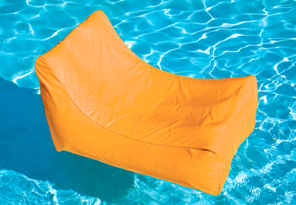 Solstice 15010O SunSoft Fabric Inflatable Chaise | Orange