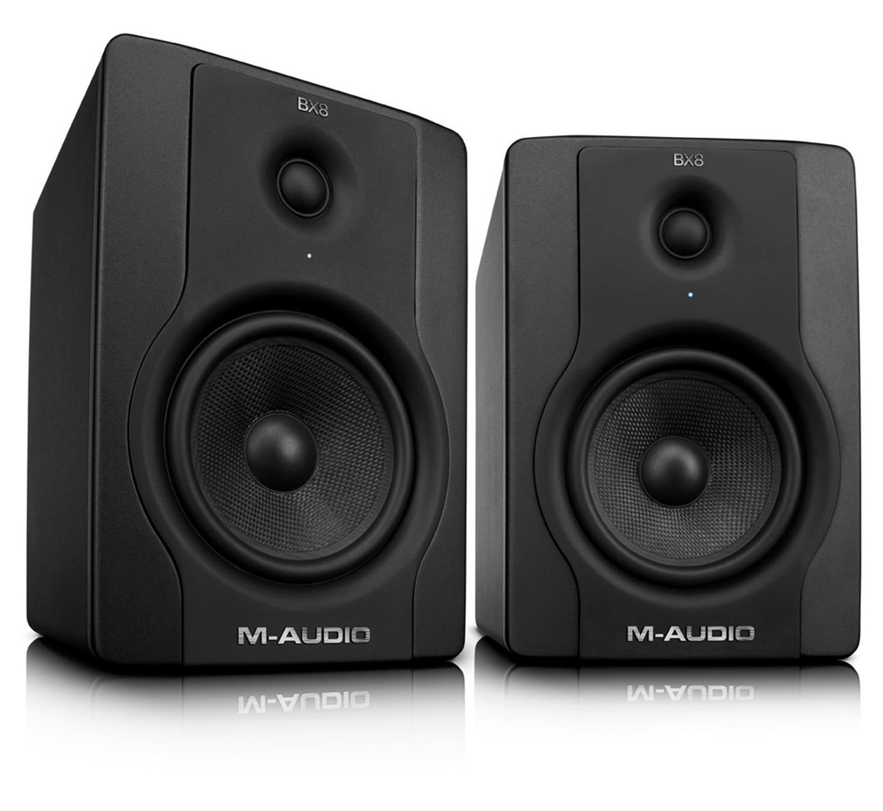 M-Audio BX8 D2 130-Watt Bi-Amplified Studio Monitors | Pair