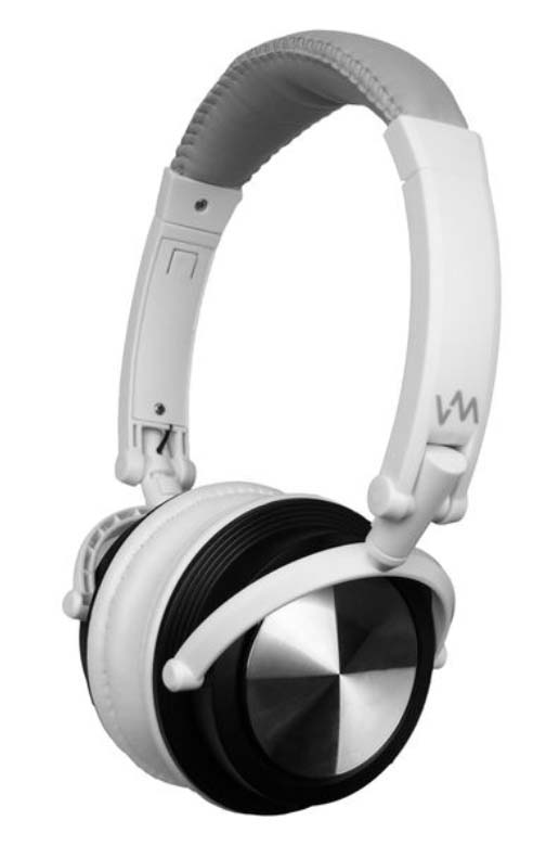 VM Audio Foldable DJ Headphones (Gray/White) | SRHP3