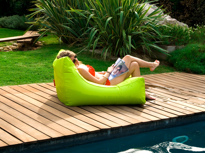 Solstice 15010L SunSoft Fabric Inflatable Chaise | Lime