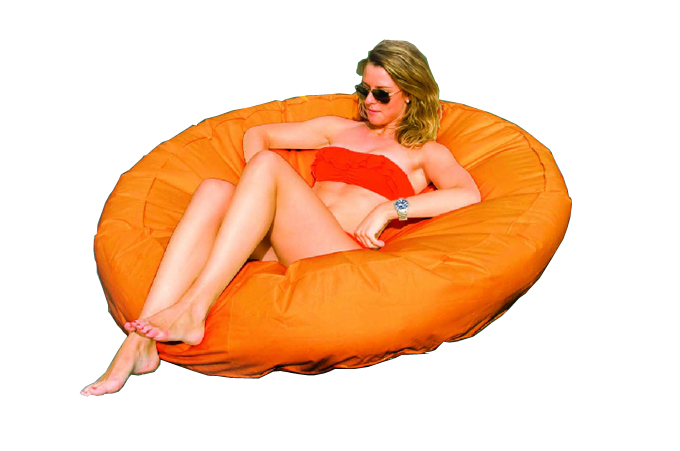 Solstice SunSoft Fabric Inflatable Island Float (Orange) | 15020O