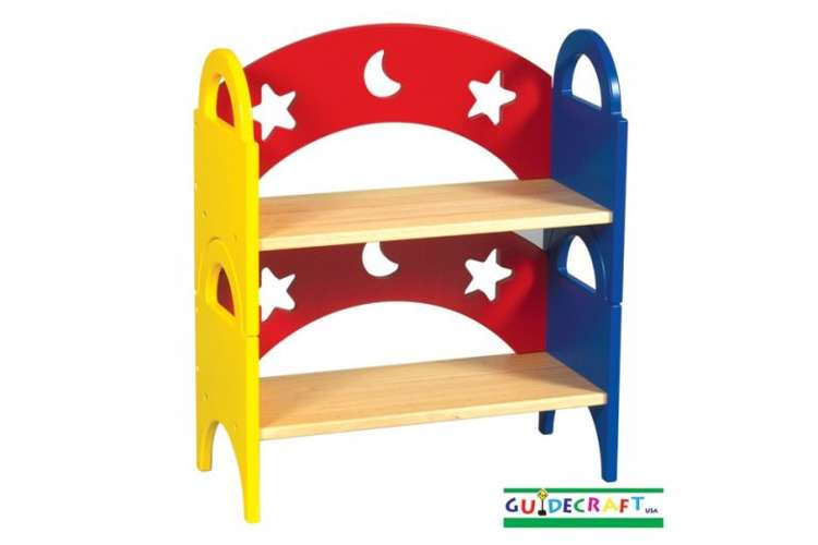 G98043�Guidecraft Moon & Stars Stacking Bookshelf