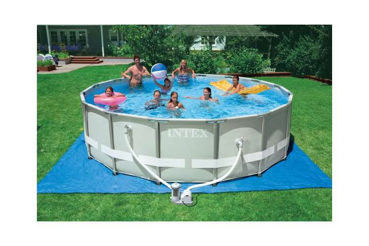 Intex 16 39 X 48 Ultra Frame Swimming Pool Complete Set 1500 Gph Pump 54451eg