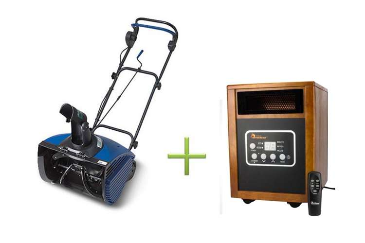 SJ620 + DR-968�Joe SJ620 13 Amp Electric Snow Blower with Dr. Infrared Heater DR-968 Electric Heater