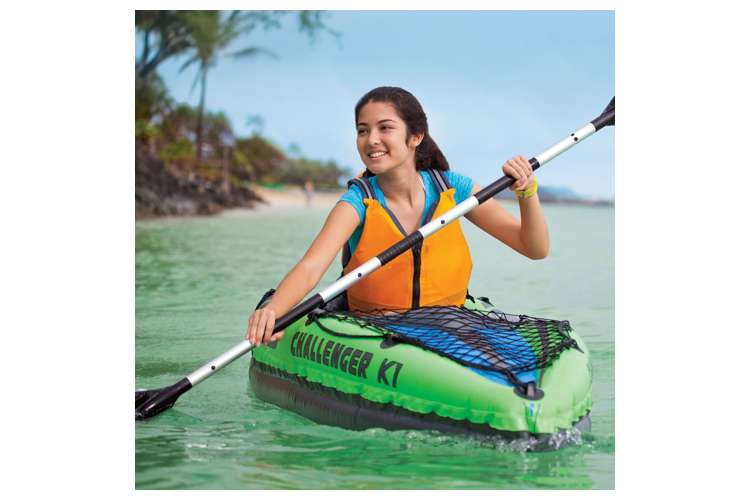 68305EP�Intex Challenger K1 1-Person Inflatable Kayak With Oars And Pump