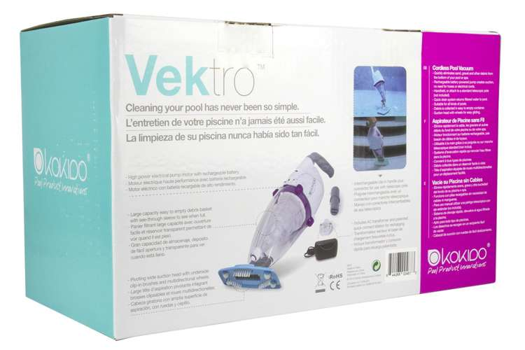 K601CBX/US�Kokido Vektro Handheld Vac Swimming Pool Rechargeable Vacuum Cleaner