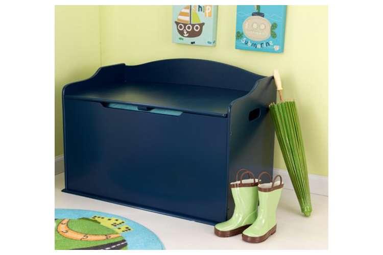14959�KidKraft Austin Wood Toy Box & Bench - Blueberry