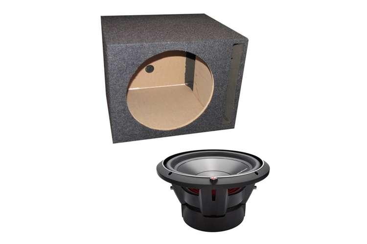 P3D2-12 + QSBASS12�Rockford Fosgate P3D2-12 12-Inch 1200 Watt Car Audio Subwoofer and Single Subwoofer Box