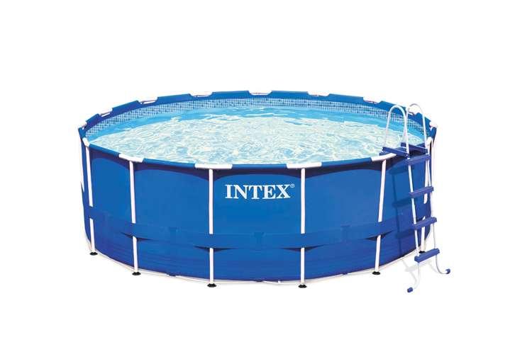 Intex Pool Plumbing : Intex quot metal frame pool set eb eg