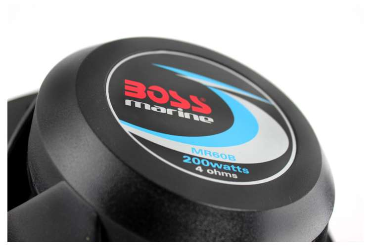 "MR60B�Boss 6.5"" 2-Way 200 Watt Marine Speakers - Black (Pair) | MR60B"