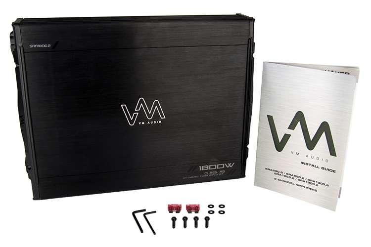 VM-SRA1800.2 + VM-SRCAP4.5�VM Audio SRA1800.2 1800W 2 Channel Amplifier with 4.5 Farad Capacitor