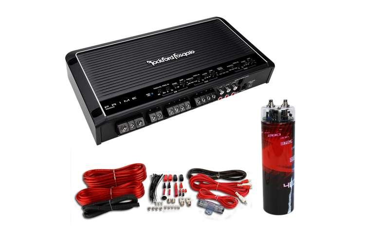 rockford punch 45 wiring diagram rockford fosgate r600x5 600w 5 channel amplifier with wiring kit with cap : r600x5 + vm-srpk4r ...