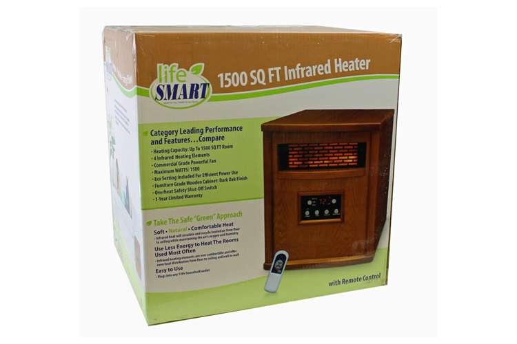 LS-4W1500-X�LifeSmart 1500W Infrared Quartz Electric Heater | LS-4W1500-X